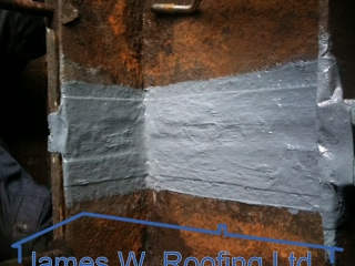 Gutter joint resealed